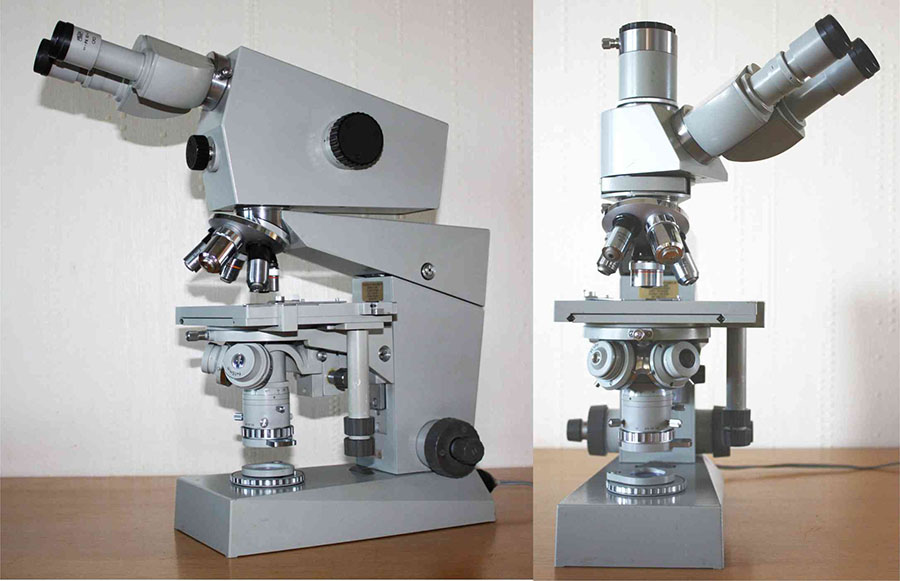 Mic uk carl zeiss jena amplival microscope