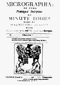 Image of Hooke's major monograph on micrographia