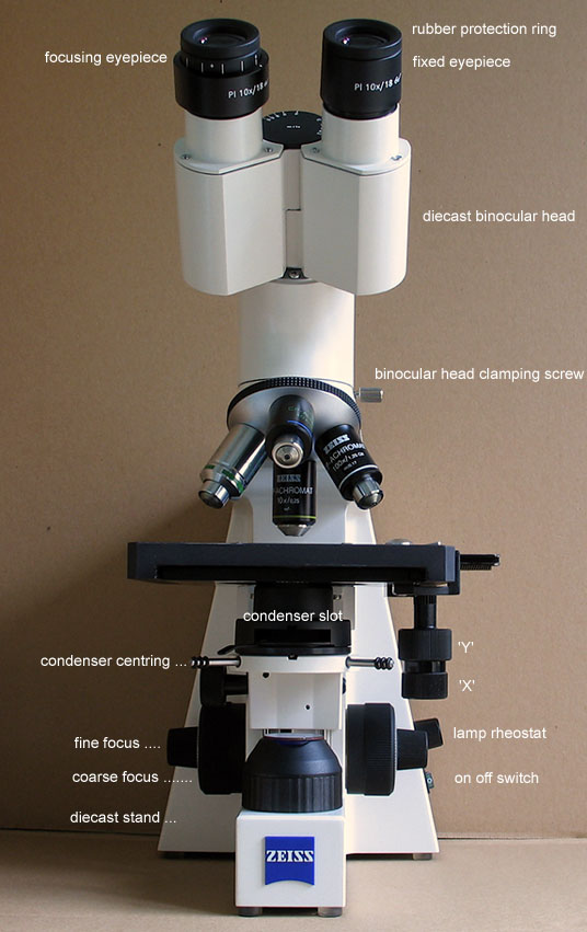 Mic uk carl zeiss axiostar binocular microscope a personal review click image for a larger labelled version ccuart Choice Image